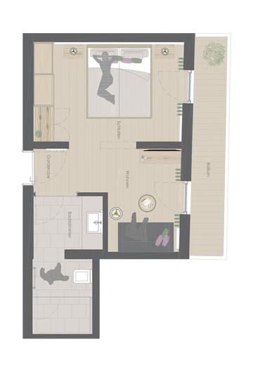 Grundriss Zimmertyp Atelier