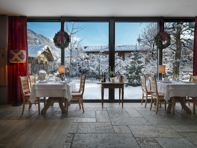 Restaurant mit Winterpanorama